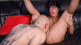 Busty grandma drilled deeply from behind xxx