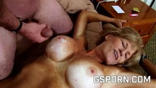 Busty granny want a young cock for her pussy