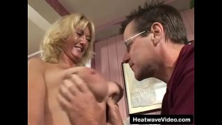 Busty MILF fucked by her man big tit suck and fuck