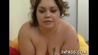 Fat angel gets nailed well