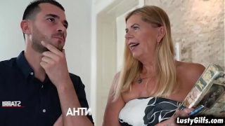 Flirty mature real state broker Samantha finally meet her hot young client John Price and started an awesome sex with him