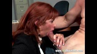 Frustrated mature enjoys young dick