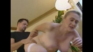 German blonde mature anal and creampie