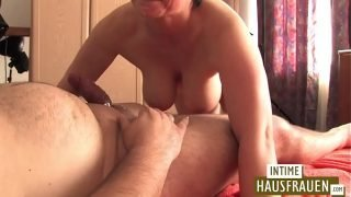 German mature gets fucked by fat men