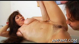 Horny aged is crazy about cock