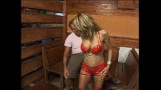 Hot mature slut banged in a tavern!