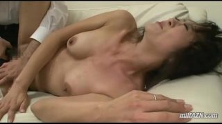 Mature Woman Getting Her Mouth And Pussy Fucked By Old Husband On The Couch
