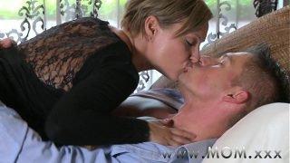 MOM Mature Brunette rides his cock