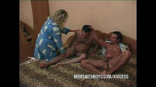 My Horny Stepmom Fucking Two Young Cocks