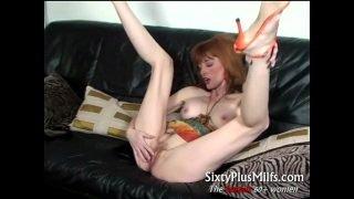 sexy slender mature babe