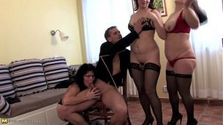 Three housewives sharing a guy